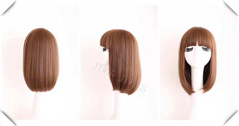 Short Straight Lady Wig 1PCS Cosplay Black<br><br>Aliexpress