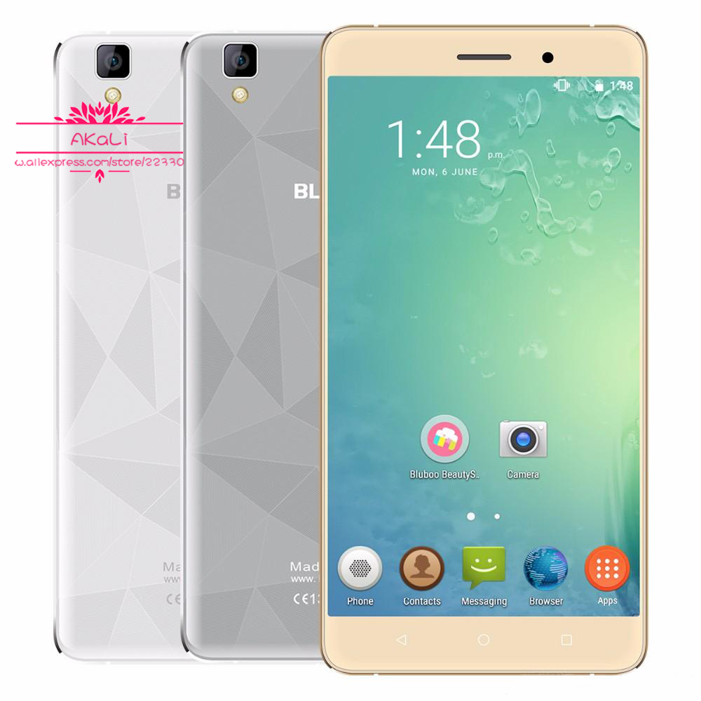 Original Bluboo Maya Android 6.0 Cellphone MT6580A Quad Core 5.5