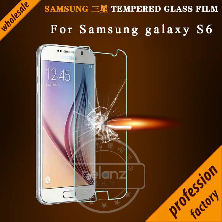 0.26mm Tempered Glass For Samsung Galaxy S6 2.5D ARC round Anti-Explosion HD Screen Protector for Samsung Galaxy S6 G9200 Glass