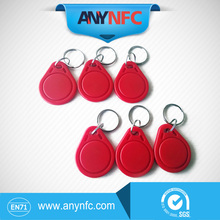 6PCS/lot Ntag 203 Red Color Keyfobs with Keychain For Arduino Android
