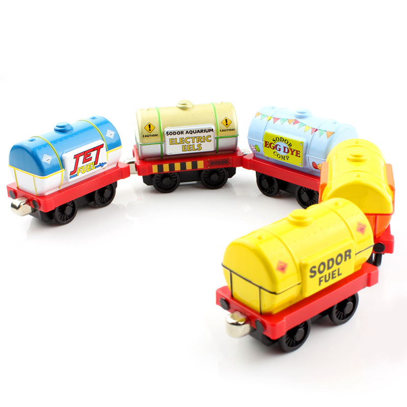 Oil tank truck Thomas and friends trains trackmaster tender metal magnetic engine tomas train models railway kids baby toys car(China (Mainland))