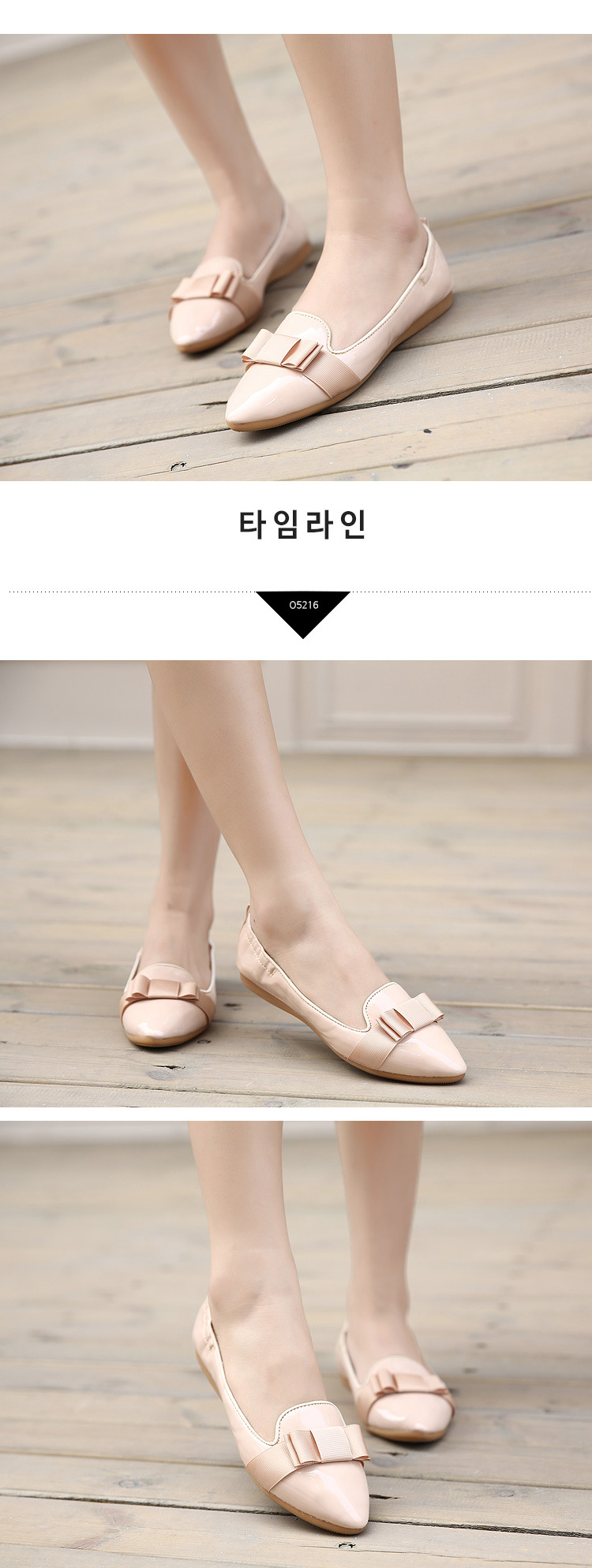 2016 new Fashion bow point toe flat shoes women ballet flats women