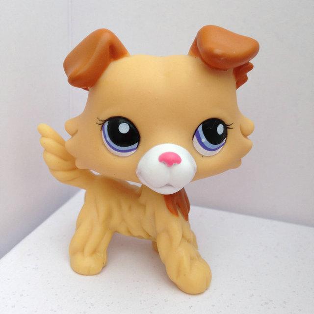 Pet Shop Животные Куклы LPS Рисунок Ребенка Игрушки Gril Колли Собака Без Магнита DWA374