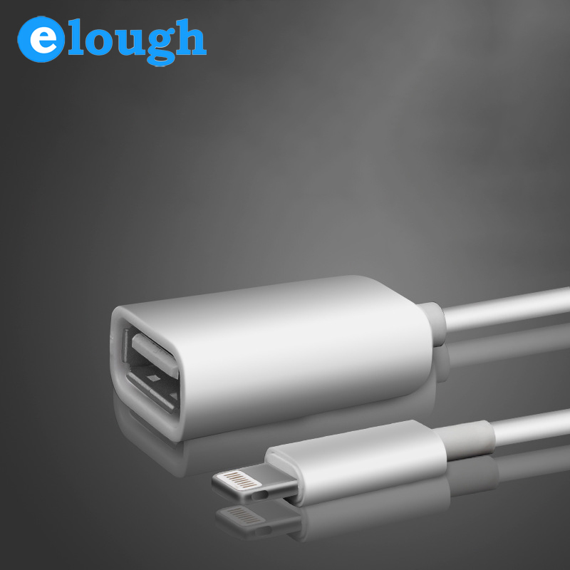 ELOUGH OTG Cable Adapter Camera Connection Kit Dock Connector to USB OTG Cable for iPad Mini for ipad 4 OTG for iphone 6 6plus(China (Mainland))