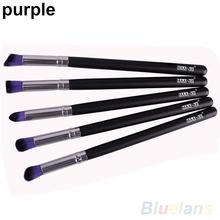 Latest 5 PCS Pro Colorful Long Handle Makeup Kit Cosmetic Brush Beauty Tool Brushes Set