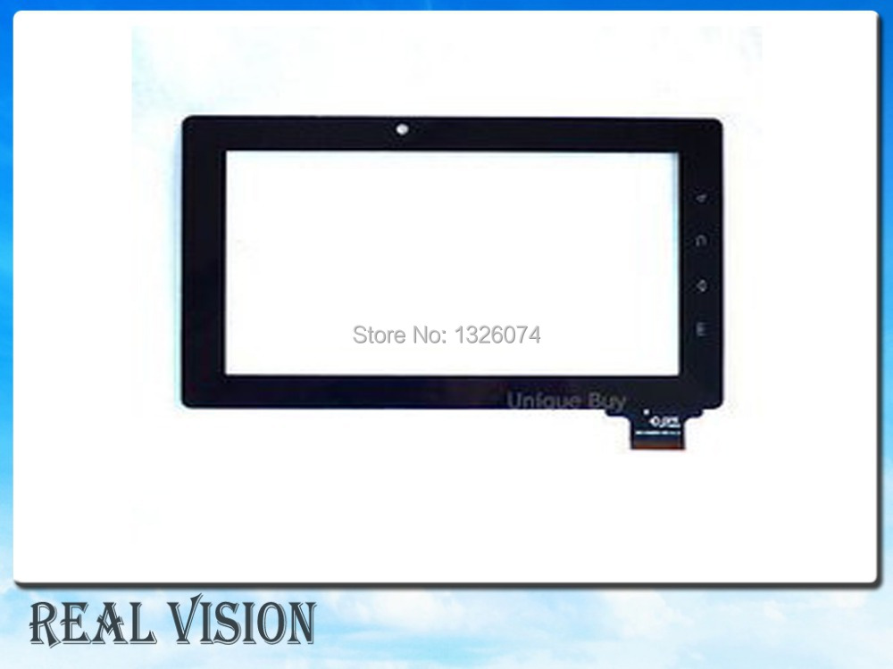 """7"""" Capacitive Touch Screen Panel Replacement for Freeland Tablet PC PD10 PD20 15mm Width Connector Free Shipping(China (Mainland))"""
