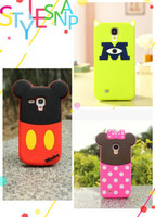 Hot sale 3D Cartoon Mickey Minnie sulley Verney pooh Soft silicone cases cover for samsung galaxy S3 mini i8190 & S4 mini i9190