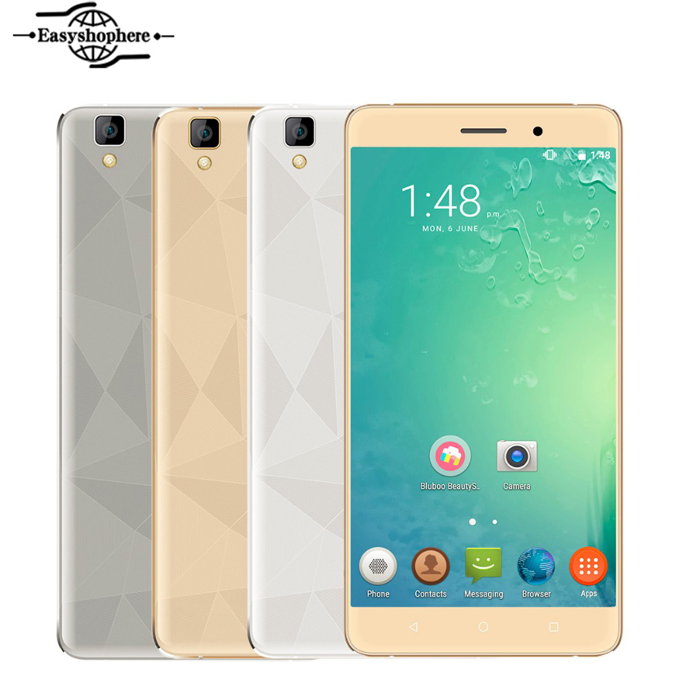 New 5.5 Inch Bluboo Maya Smartphone Quad Core 2GB RAM 6GB Cell Phone Android 6.0 ROM MT6580A Mobile Phone 13MP Dual SIM 3000mA(China (Mainland))