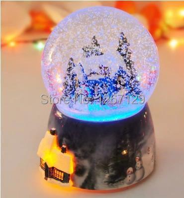 Comprar luz giratoria bola cristal de - Bola nieve cristal ...