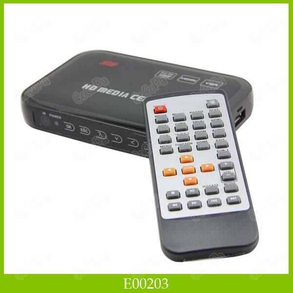 HDMI AV USB Ports Full HD 1080P Media Player Center HD Media Player 1PCS/LOT Free Shipping(China (Mainland))