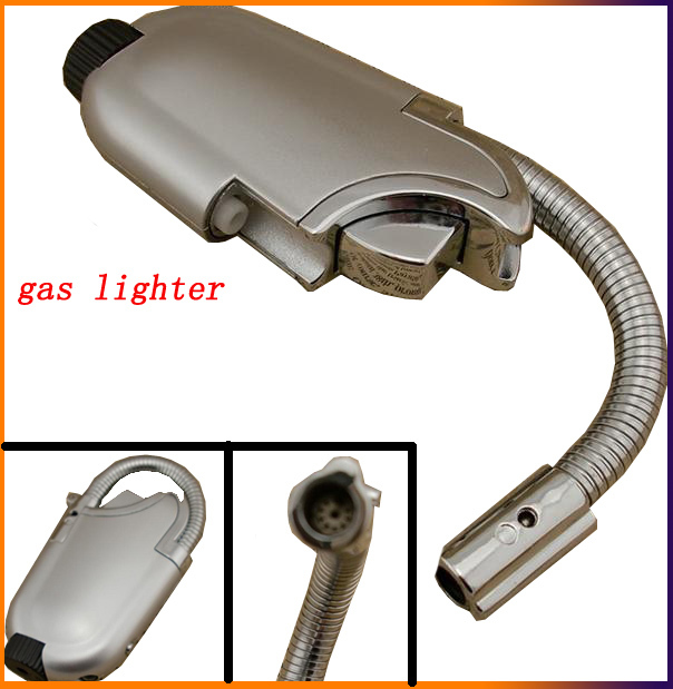 Portable elbow ignition metal jet butane torch gas lighters,Mini windproof men's cigarette lighters,recycling refillable(China (Mainland))
