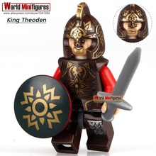 Single Sale King Theoden Minifigures Building Blocks Children X'mas Gift Toys Lord of the Rings 9474 The Battle of Helm's Deep(China (Mainland))