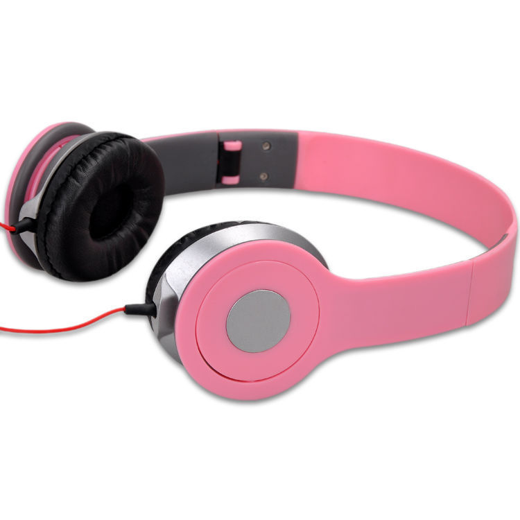 New 3.5mm Headphone for iPod Phone Earphone Earbuds Stereo For computer MP3 MP4 Mobile Phone Headphones Pink Wholesale(China (Mainland))