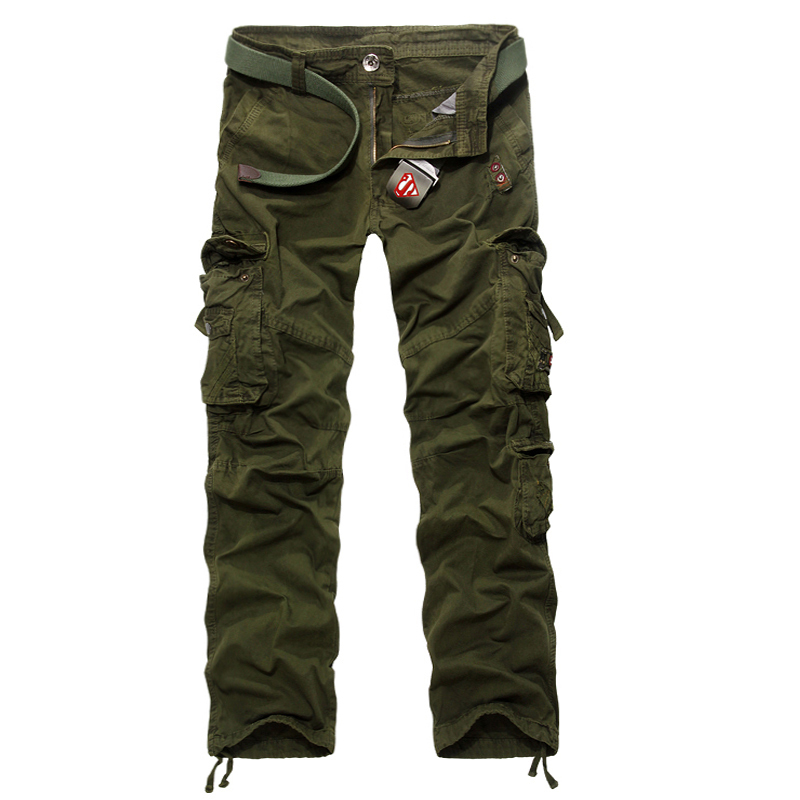 2015 New Arrival Military Pants Men High Quality Canvas Tactical Cargo Pants Mens Pockets Cheap Trousers Black/Khaki/ArmyGreen(China (Mainland))