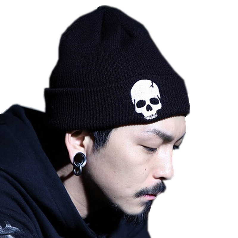 2015 Unisex Acrylic Knit Hat Winter Hats Skull Style Skullies & Beanies For Woman And Man 3 Colors Gorros(China (Mainland))