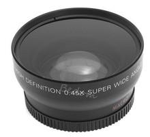 NEW 0.45x 49MM Wide Angle Macro Camera Lens + Caps + Bag for Sony Alpha NEX-3 NEX-5 NEX-5N for Sony Alpha A3000 18-55 Lens Kit