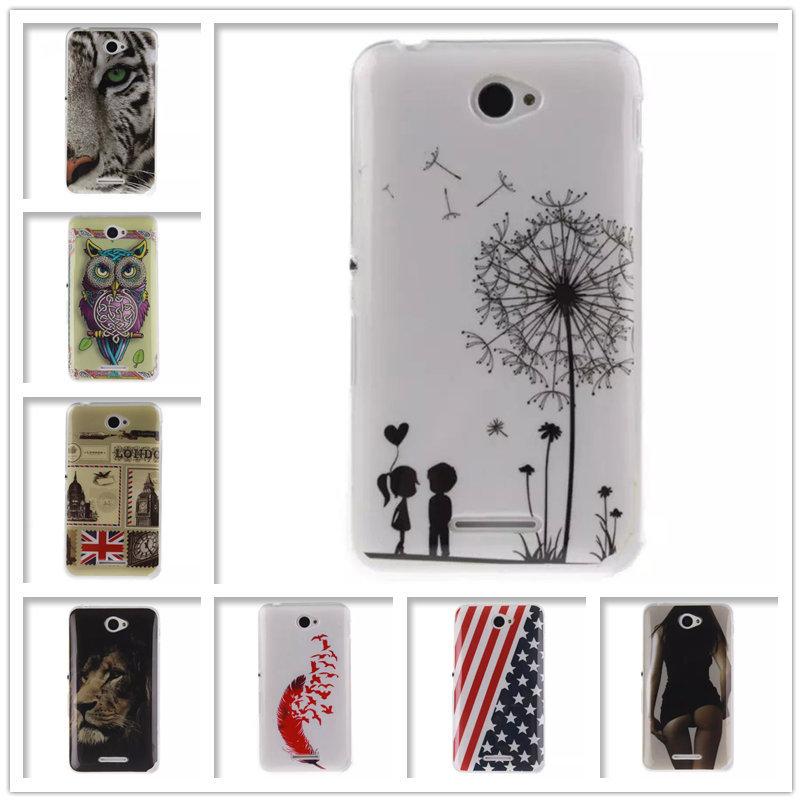For Sony Xperia E4 Case Cover US Flag Windbell Sleep Owl Flower Soft Cases For Sony E4 Dual E2114 E2124 E2115 E2104 E2105