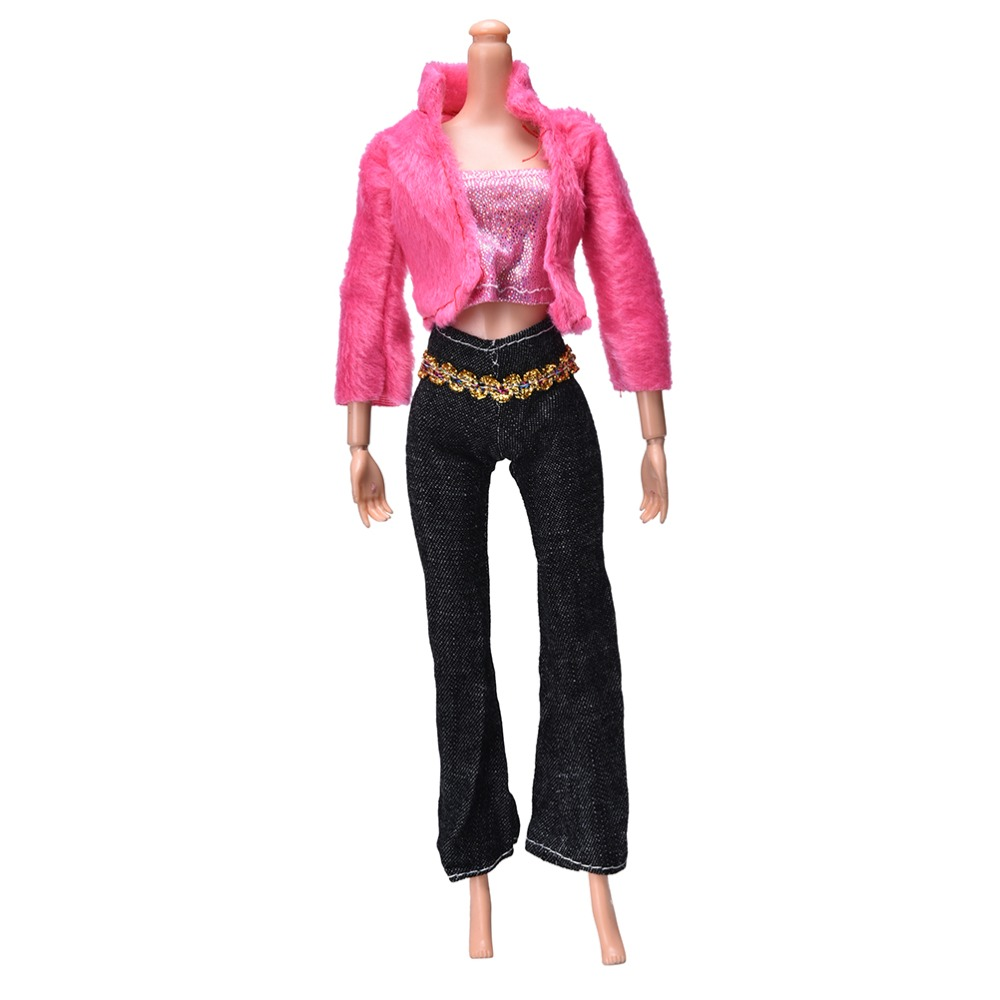 Doll Handmade Clothing Sets Casual Suits For Doll Coat Pant Vest For Barbie Doll Best Gift Toys 3 Pcs/set Hot Sale(China (Mainland))