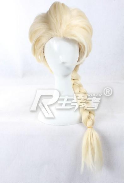 FREE SHIPPING Anime 65cm X Long Frozen Snow Queen ELSA Cosplay Wig Costume Heat Resistant + Cap<br><br>Aliexpress