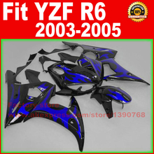 Custom ABS Motorcycle body fairings kit for YAMAHA 2003 YZFR6 2004 2005 YZF R6 03 04 05 YZFR 600 dark blue fairing bodywork part