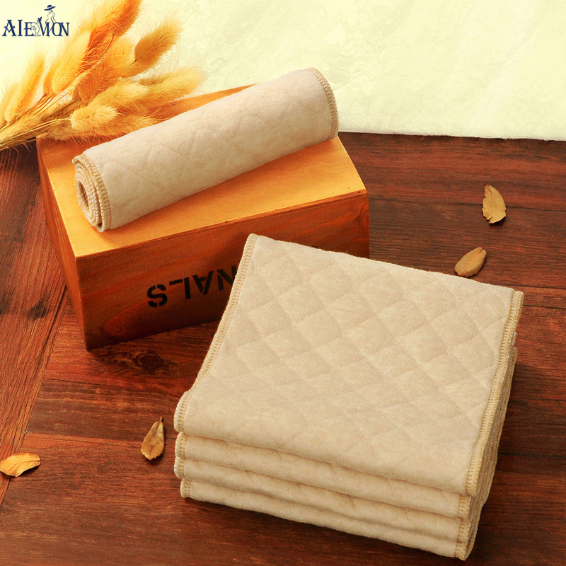 3pcs 3 layers New Reusable and Easy use Soft and Breathable Baby cotton cloth Nappy Liners inserts diaper