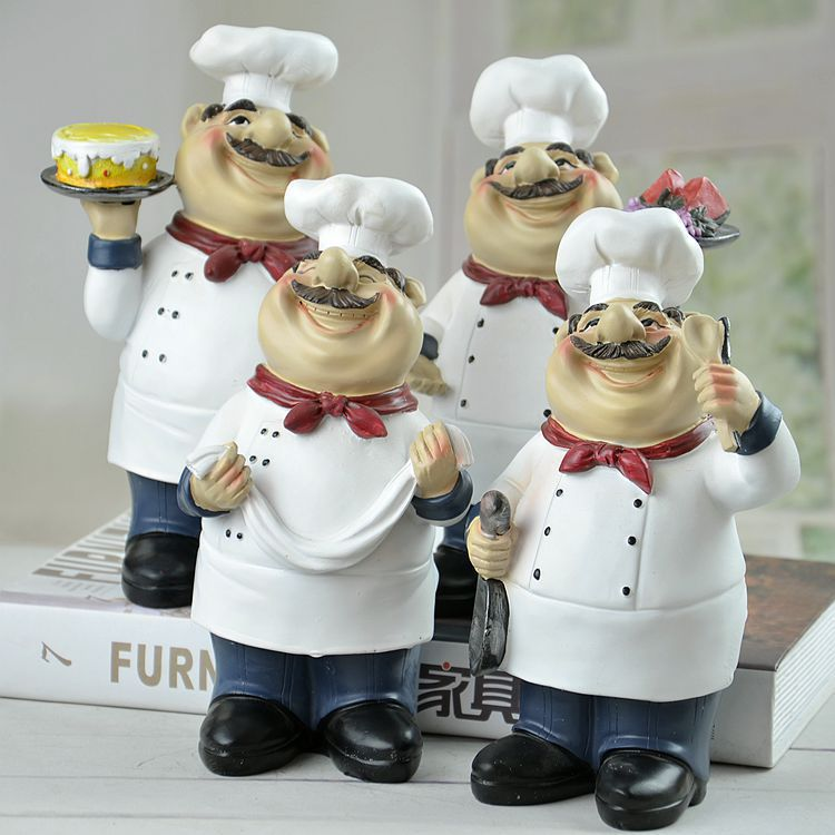 Keuken Bar Hoogte : hars keuken chef kok beeldje standbeeld figuur handcraft voor bar