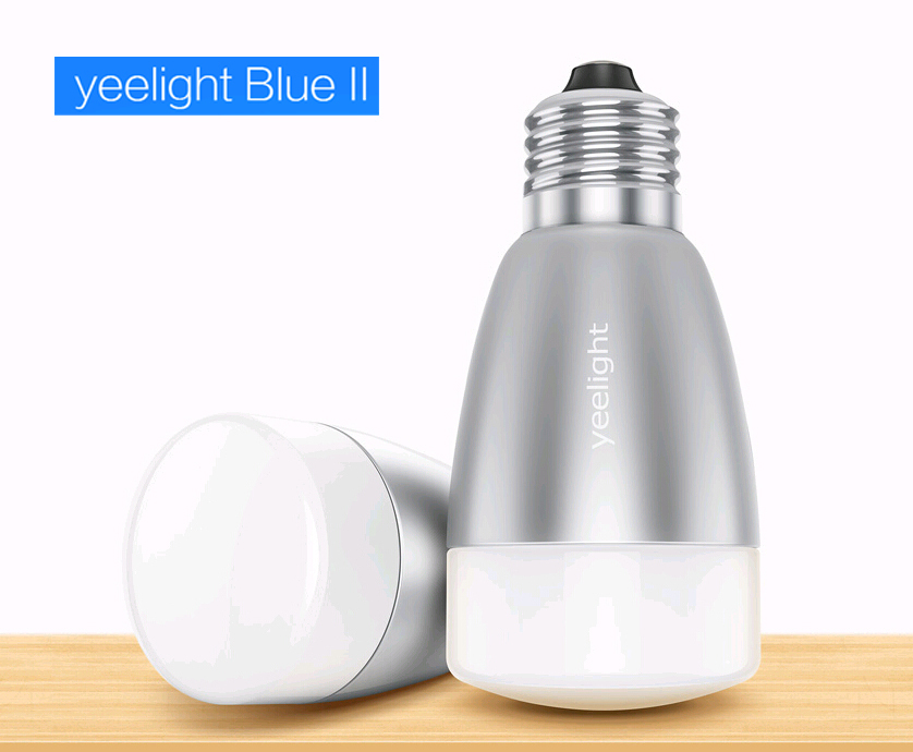 Yeelight Blue II Smart Lighting Bluetooth 4.0 Wireless Control Samrt home LED Light White + RGB FOR iPhone 6 Plus iOS Android - WTL Lamps Store store