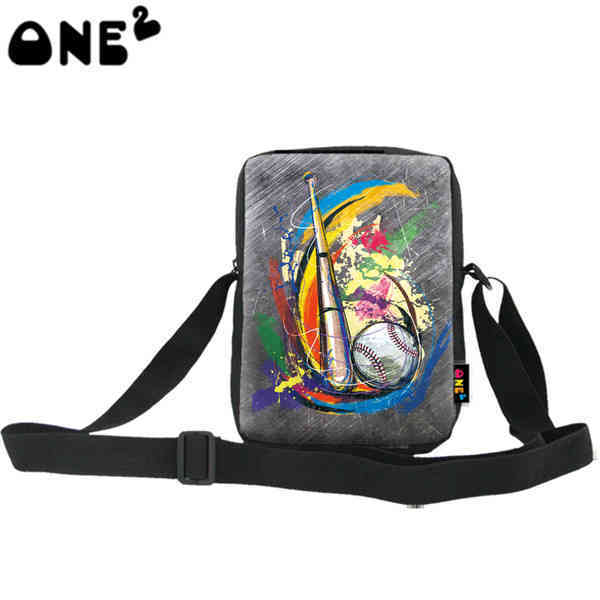 ONE2 Design baseball gray sport single shoulder messenger bag for kids children university school students man women boys girls(China (Mainland))