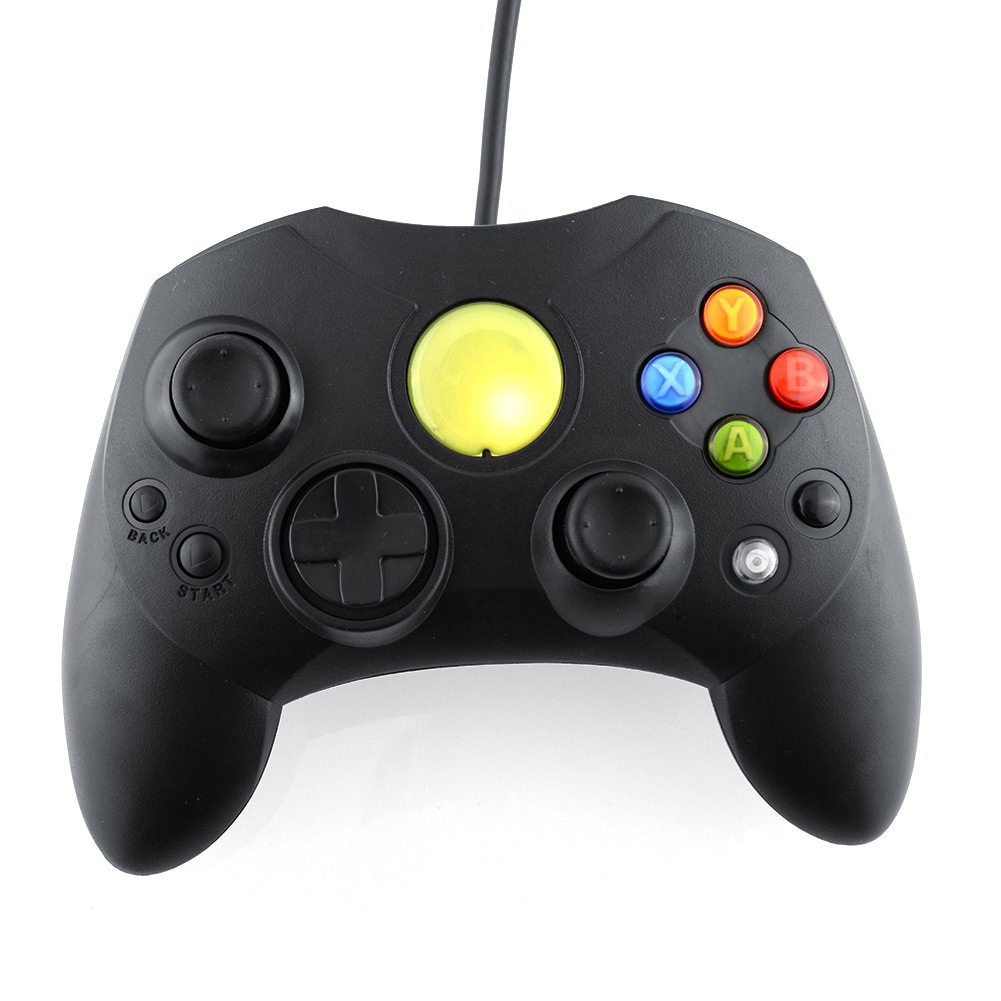 image for Black Wired Game Controller GamePad Joypad Joystick S TYPE For Microso