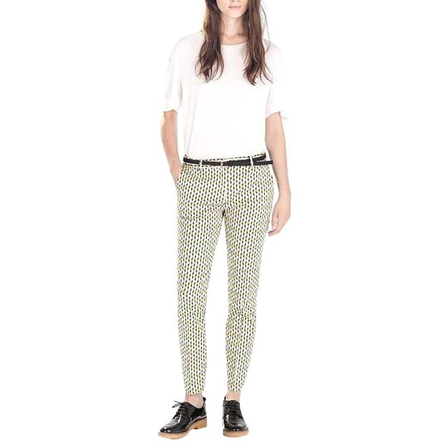 03C2002 Модные женские Элегантные Геометрические печати карандаш брюки с поясом уютные ...