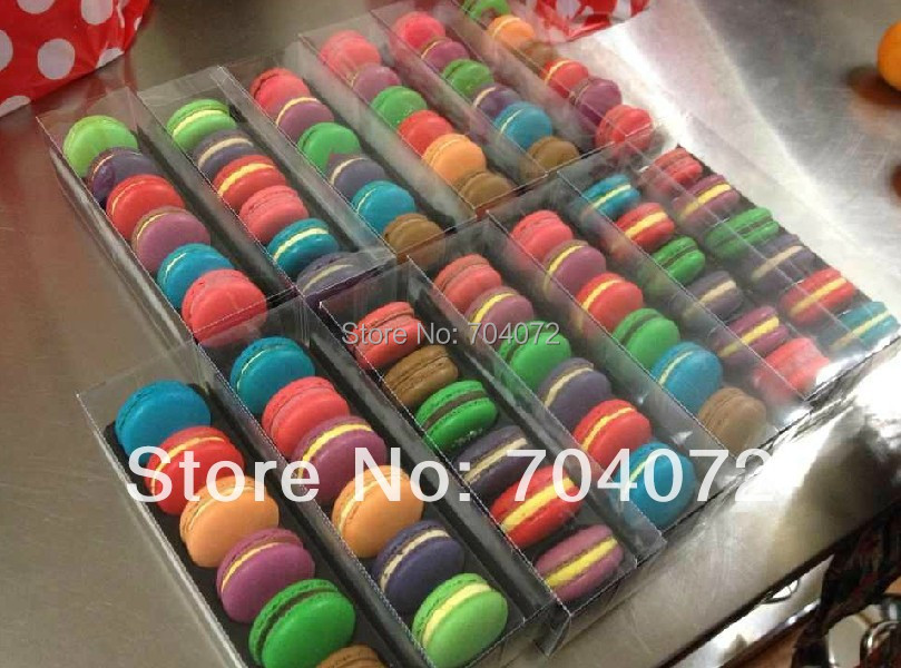 2015 Wholesale- free Shipping New Arrival12pcs/lot 6cups Macarons Box/cookies Box /clear Plastic Macaron Case/6 Trays Linner