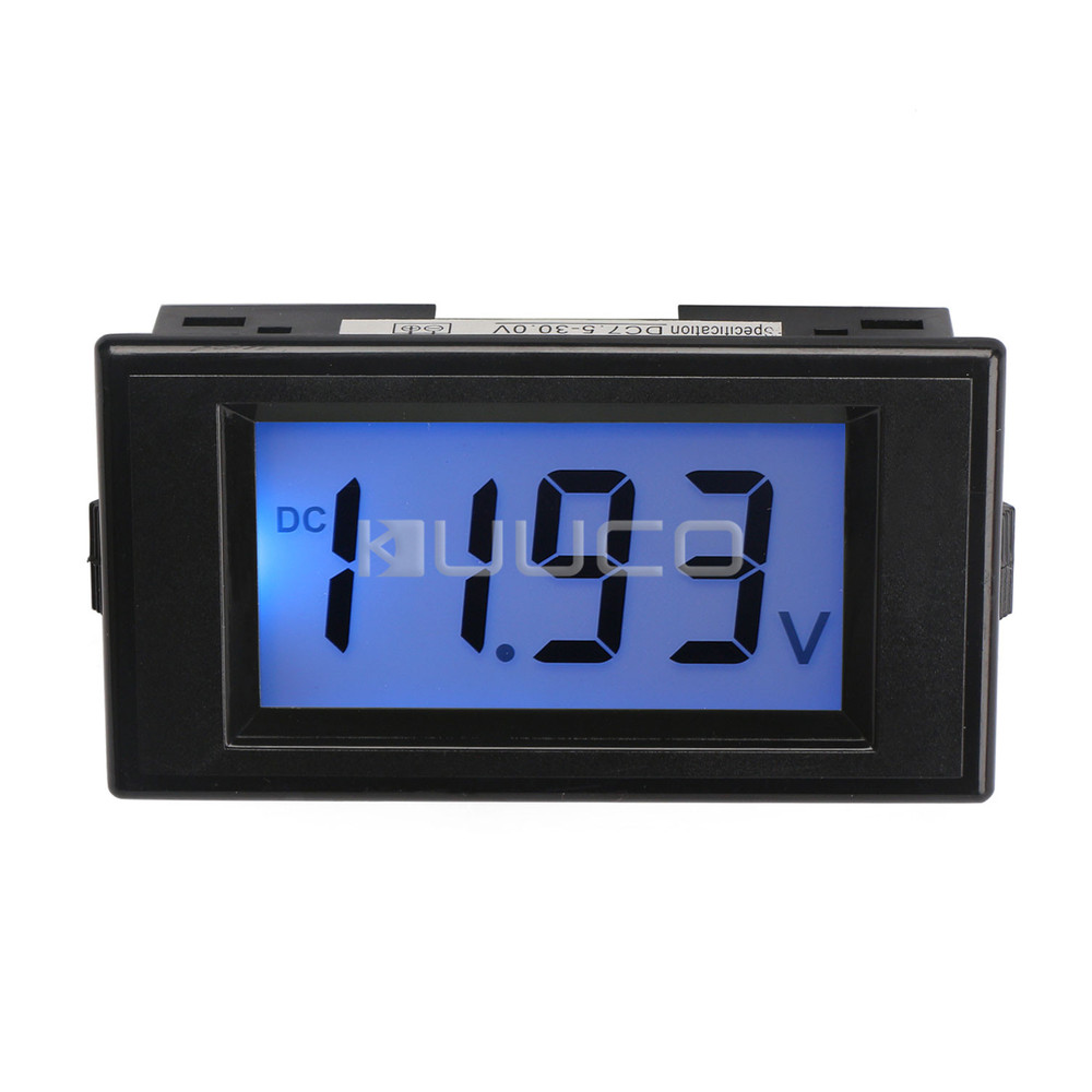 12 Volt Panel Meter : Digital voltmeter dc v blue lcd voltage panel