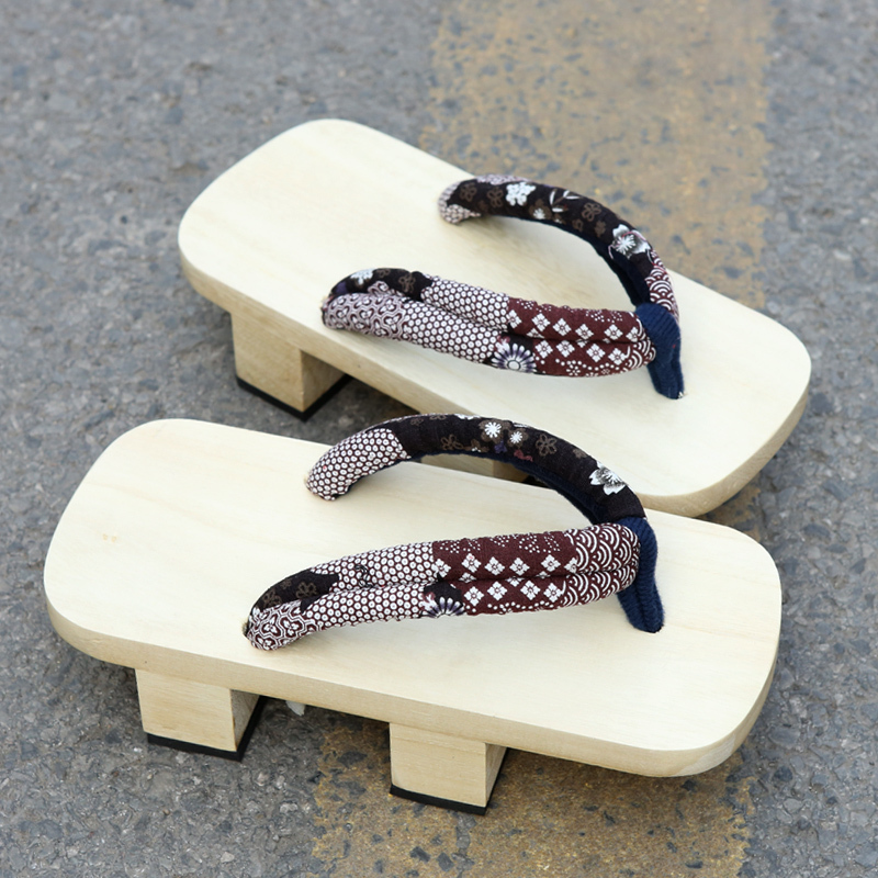Jennifer Nicole Men Who Dragged Two Japanese Words Japanese Tooth Clogs Slippers Summer Sandals ...