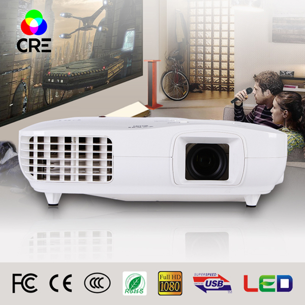2016 China Super Promotion Hot Private Cinema Digital Multimedia Native 1920x1080 HDMI Large Screen 3led 3lcd Video Projector(China (Mainland))