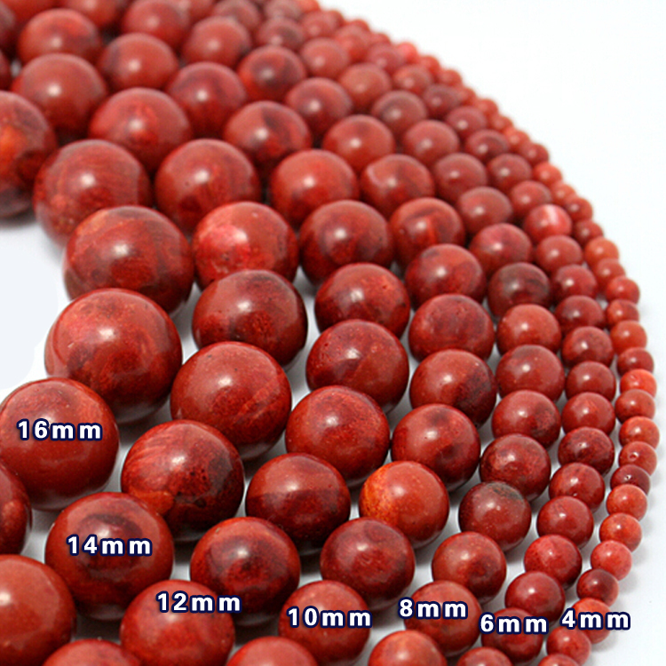 Free Shipping 12pcs/lot 16mm Round Natural Coral Loose Spacer Beads Red Colour for Jewelry CN-BTA039(China (Mainland))