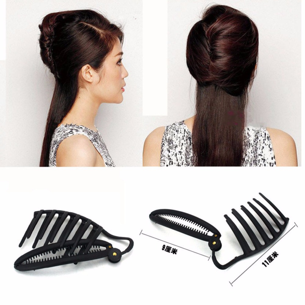 Women DIY Formal Hair Styling Updo Bun Comb And Clip Tool Set For Hair French Twist Maker Holder(China (Mainland))