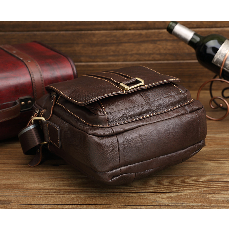 2015 Men s Casual Genuine Leather Bag Cowhide Men Crossbody Bags Designer Brand Messenger Bag Fashion