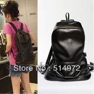 Best Selling!!new fashion women PU leather backpack ladies casual sport bags travel bag Free Shipping