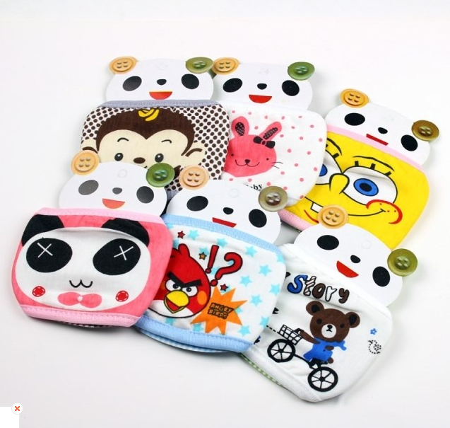 Child cartoon thermal masks baby 100% cotton breathable child - jack jie's store