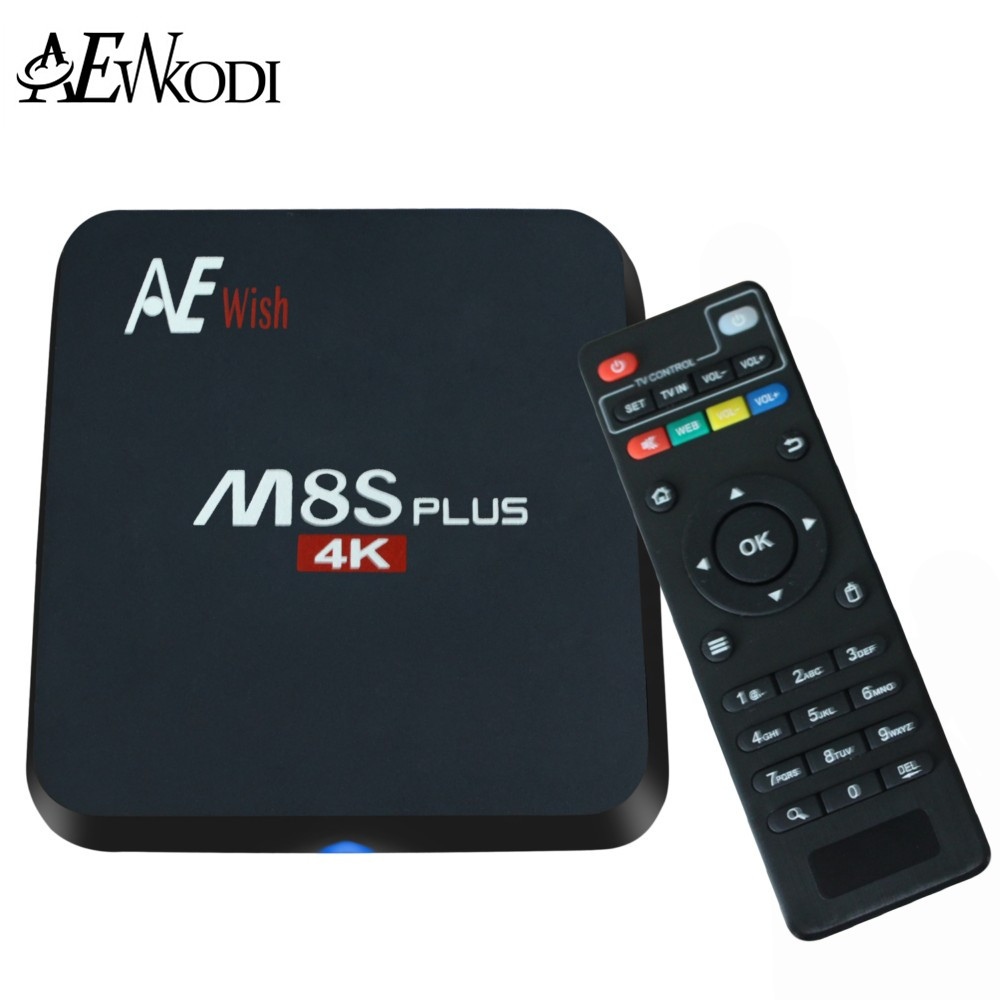 ANEWKODI Android Tv Box M8S PLUS M8s+ Quad-Core Smart TV Amlogic S905 KD 16.0 4K 2G/16G WIFI Full HD Android 5.1 Media Player