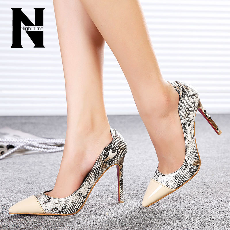 2015 New Women  Wedding  Shoes Red Bottom Pumps  Zapatos Mujer  Shoes Women Snake High Heel  Shoes Woman Valentine  Shoes B176(China (Mainland))
