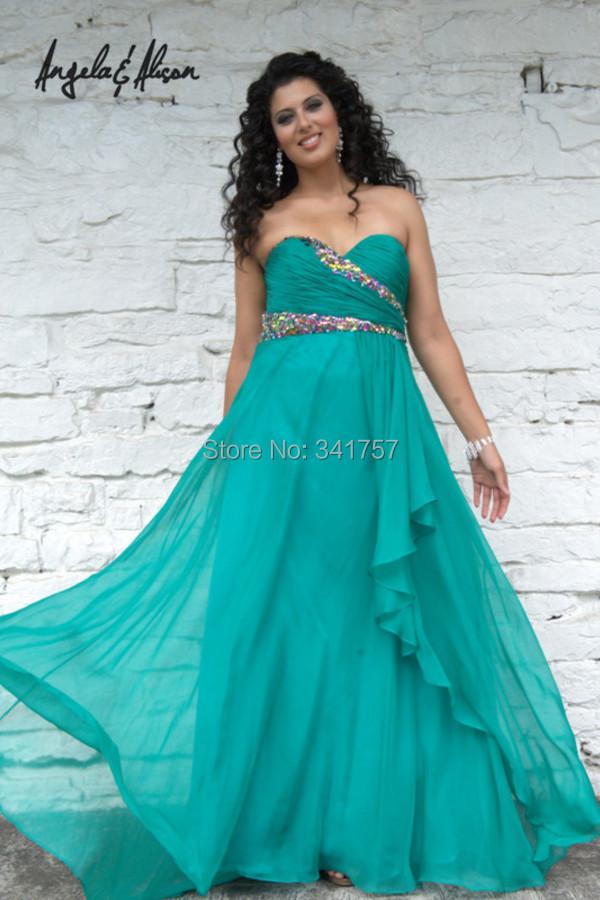 Amazing evening dresses: Green evening dress size 22