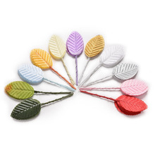 10pcs/pack New high simulation leaves silk stocking flower Artificial scrapbooking flower leaves party decoration(China (Mainland))