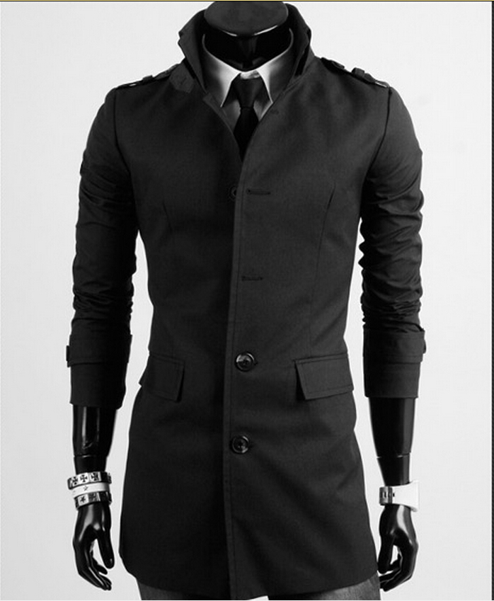 AliExpressNew 2014 Men trench coat, cultivate one's morality men leisure trench coat jacket business trench coat Size:M-XXL