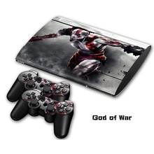 4 styles God of war Non-slip Waterproof Protective Host Stickers Case 2pcs Controller Stickers Skins for SONY PlayStation 3 PS3