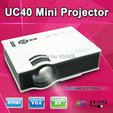 UC40+ Mirco Led projector Support Korean Home Theater Proyector beamer Support HDMI AV USB 1080P Digital projetor for PS3 Xbox(China (Mainland))