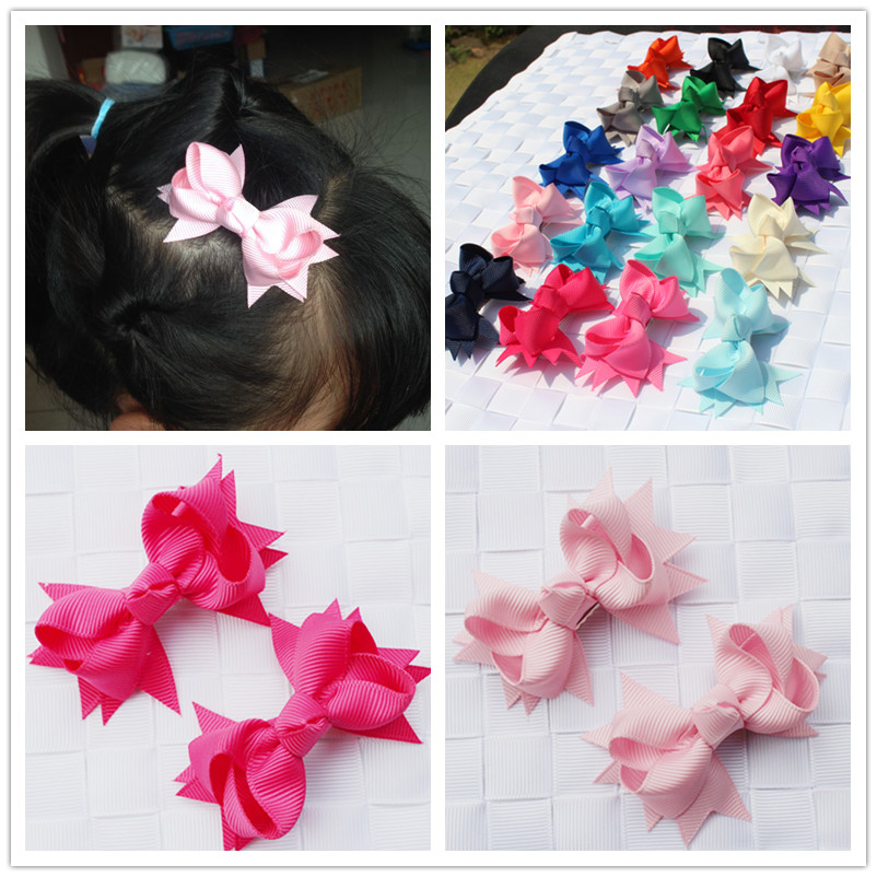 bowknot baby children kids hair ribbon bows hairclip for girls hair clips pin barrette ornaments accessories hairpins hairgrip(China (Mainland))