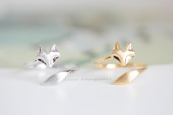 Gold Plated Fox Shaped Ring