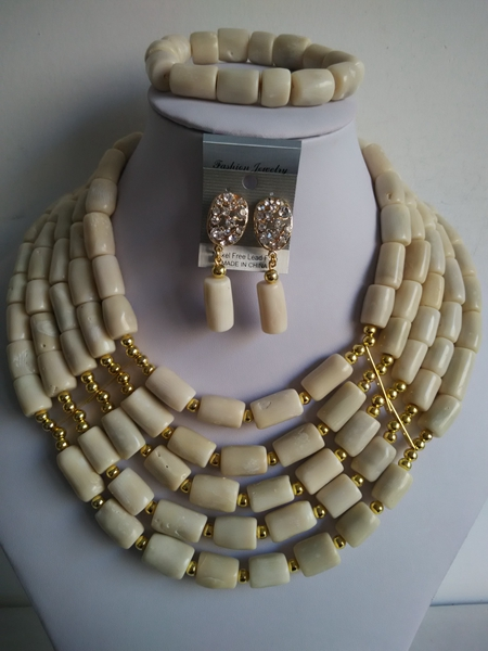 Nigieran Wedding White Coral Beads Costume African Coral Beads Jewelry Set Free Shipping ABF769<br>