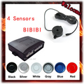4 Sensors Buzzer 22mm Car Parking Sensor Kit Reverse Backup Radar Sound Alert Indicator Probe System